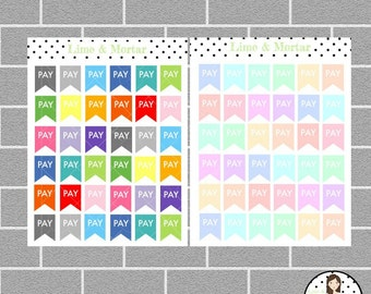 Pay Flag | 3 Colours | Planner Stickers