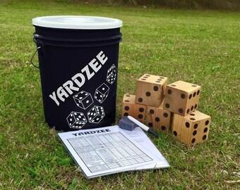 Oversize Yard Game   Yardzee   Lawn Dice   Yard Yahtzee   Yard Games   Yard