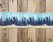 Hand Painted Art Sock Blank -- Forest