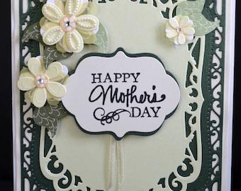 Handmade Elegant Greeting Card-Friendship, Thinking of You, Happy Birthday, Mother's Day, Sending Love Card