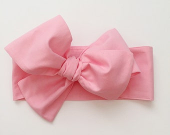 Pink Headwrap, Pink Headband, Pink Bow, toddler headband, toddler headwrap, baby girl, newborn, girl headwrap, girl headband, Headwrap