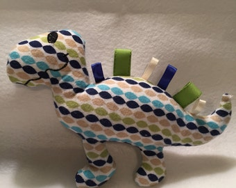 Items Similar To Dinosaur Stuffie With Satin Taggie