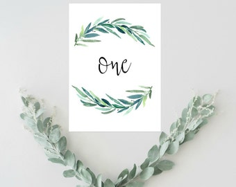 Rustic Wedding Table Numbers Ideas, Green Wedding Decor, Eucalyptus Wedding Table Numbers 1-20, Table Numbers Rustic, Wedding Seating