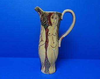 Lucianne Lassalle Studio art pottery Jug. British. (Born 1960). Stunning