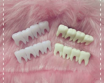 Tooth fairy hair clips creepy halloween goth horror