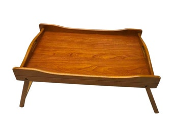 Wooden bed tray breakfast tray unique design lap tray serving tray light weight with legs.