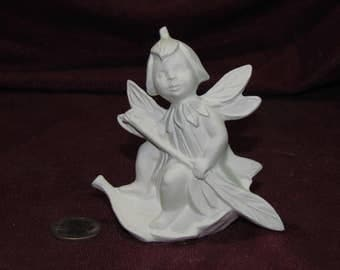 Ceramic-Bisque-Dewdrop-Fairy-Leaf-Boat-Ready-to-Paint-U-Paint-Mystical Fantasy