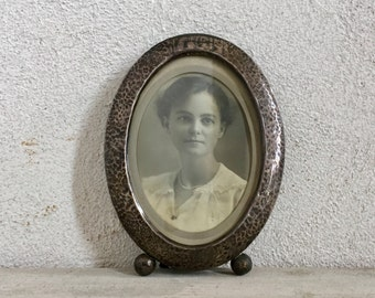 Antique Sterling Silver Picture Frame, Oval Photo Frame, Victorian