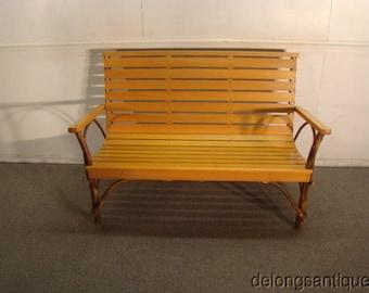 hickory wood adirondack bench