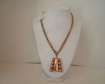 Vintage Renoir Parisian Copper Necklace
