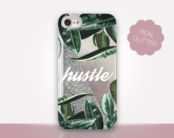 Hustle Glitter Phone Case Clear Case For iPhone 8 iPhone 8 Plus - iPhone X - iPhone 7 Plus - iPhone 6 - iPhone 6S - iPhone SE  iPhone 5