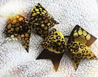 Jaguar print bows