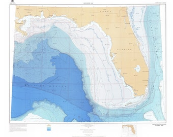 Gulf of Mexico Map 1986