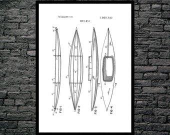 Kayak Patent, Kayak Poster, Kayak Blueprint,  Kayak Print, Kayak Art, Kayak Decor p181