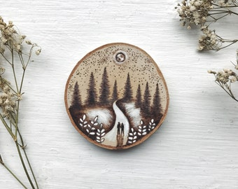 Wood burned Walk in the Forest // Ornaments