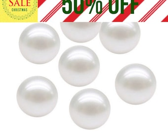 50% off! 10 White pearls 4mm floating charms for floating living lockets