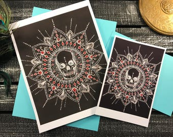 Obilito - skull mandala reproduction prints