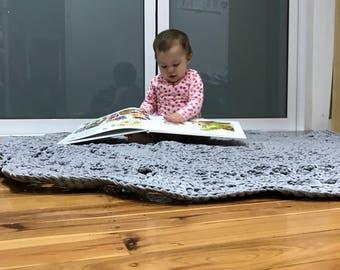Crochet Floor Rug, Round Rug, decorative floor rug, nursery rug, mandala rug