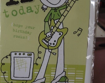 11 Today   Boy Playing Electric Guitar Birthday Card