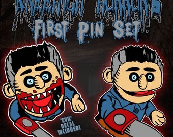 Evil Puppet Pin Set
