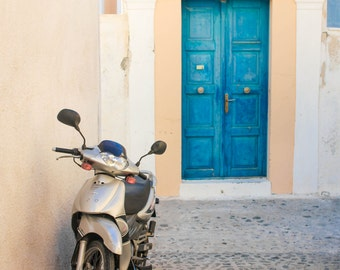 Santorini Scooter | Greece Photography