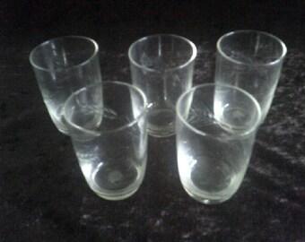 Rare vintage wheat pattern Whisky Glasses Set of 5