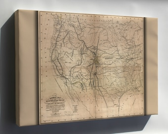 Canvas 24x36; Map Of The United States 1859