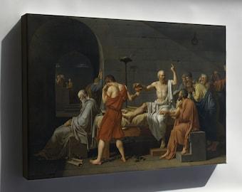 Canvas 24x36; Death Of Socrates (1787)
