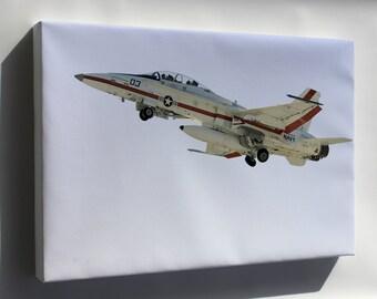 Canvas 24x36; Fa-18B Hornet, F-18 U.S. Naval Test Pilot School F-18