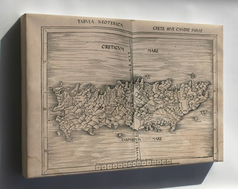 Canvas 24x36; Map Of Crete 1513