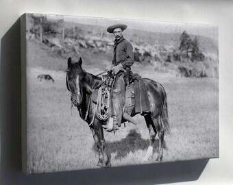 Canvas 24x36; American Cowboy, C. 1888