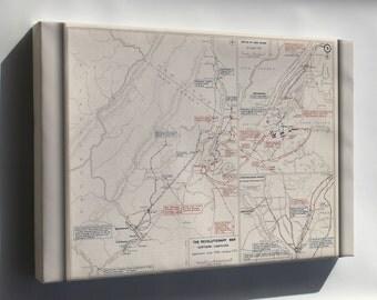 Canvas 24x36; Map Of Revolutionary War New York And Trenton, 1776-1777