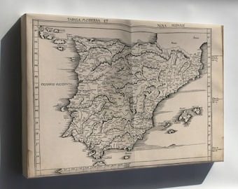 Canvas 24x36; Map Of Spain And Portugal 1513
