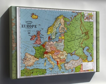 Canvas 16x24; Map Of Europe 1923
