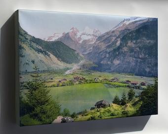 Canvas 16x24; Kandersteg Um 1900 Switzerland Photochrom