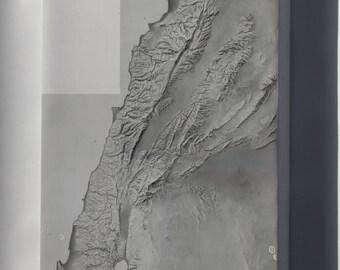 Canvas 16x24; Cia Terrain Map Of Lebenon