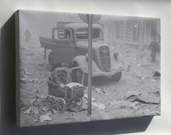 Canvas 16x24; Helsinki Bombardment 1939 Sa Kuvat 1490