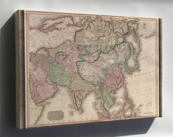 Canvas 16x24; Map Of Asia 1818