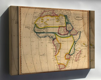 Canvas 16x24; Africa Map 1812 - Copy