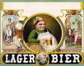 16x24 Poster; Lager Bier C1870S