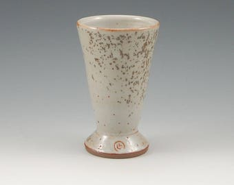 Stoneware Tumbler 4 oz , Shino with Wood Ash, Champagne Flutes, Wine Glasses, Juice Cups, Whisky Cups,  Small Pottery Cup