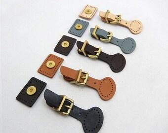 1set Genuine Leather Bag Belt Buckles, Brushed Brass Handbag Clasp, Purse Clip, DIY Replacement, Bag Closure, Magnetic Snap Catch Purse Lock