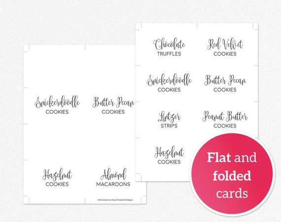 Diy Editable Food Labels Template Food Signs For Wedding