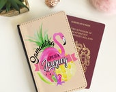 Personalised Flamingo Passport Cover  travel document holder  passport Wallet  passport case  free postage