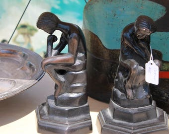 Vintage Statue Bookends