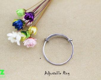 10mm Expandable Ring Charm Ring  Midi Ring Stainless Steel Ring Add a Charm Ring Charm Holder Ring, Choose Your Quantity