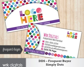 Dot Dot Smile Frequent Buyer Business Card, Simply Dots Design, Customized Business Card, Direct Sales, Fashion Consultant