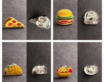 Favorite food enamel pins