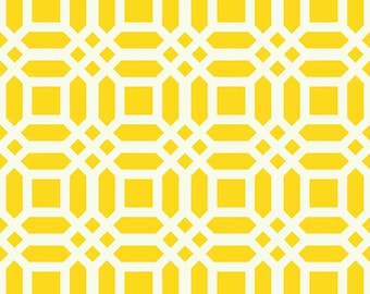 HOME DECOR Yellow and Creamy White Lattice by Patty Young for Riley Blake Designs