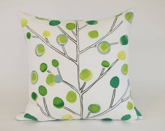 "Decorative Throw Pillow COVER in Contemporary Tree Print - 16"" Square"